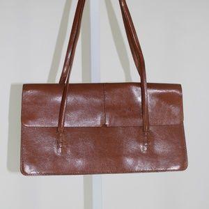 Alfani brown leather shoulder bag EUC